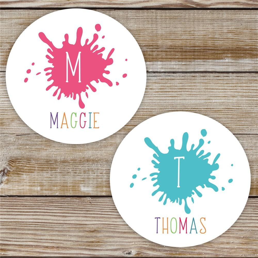 Personalized Paint Splatter stickers