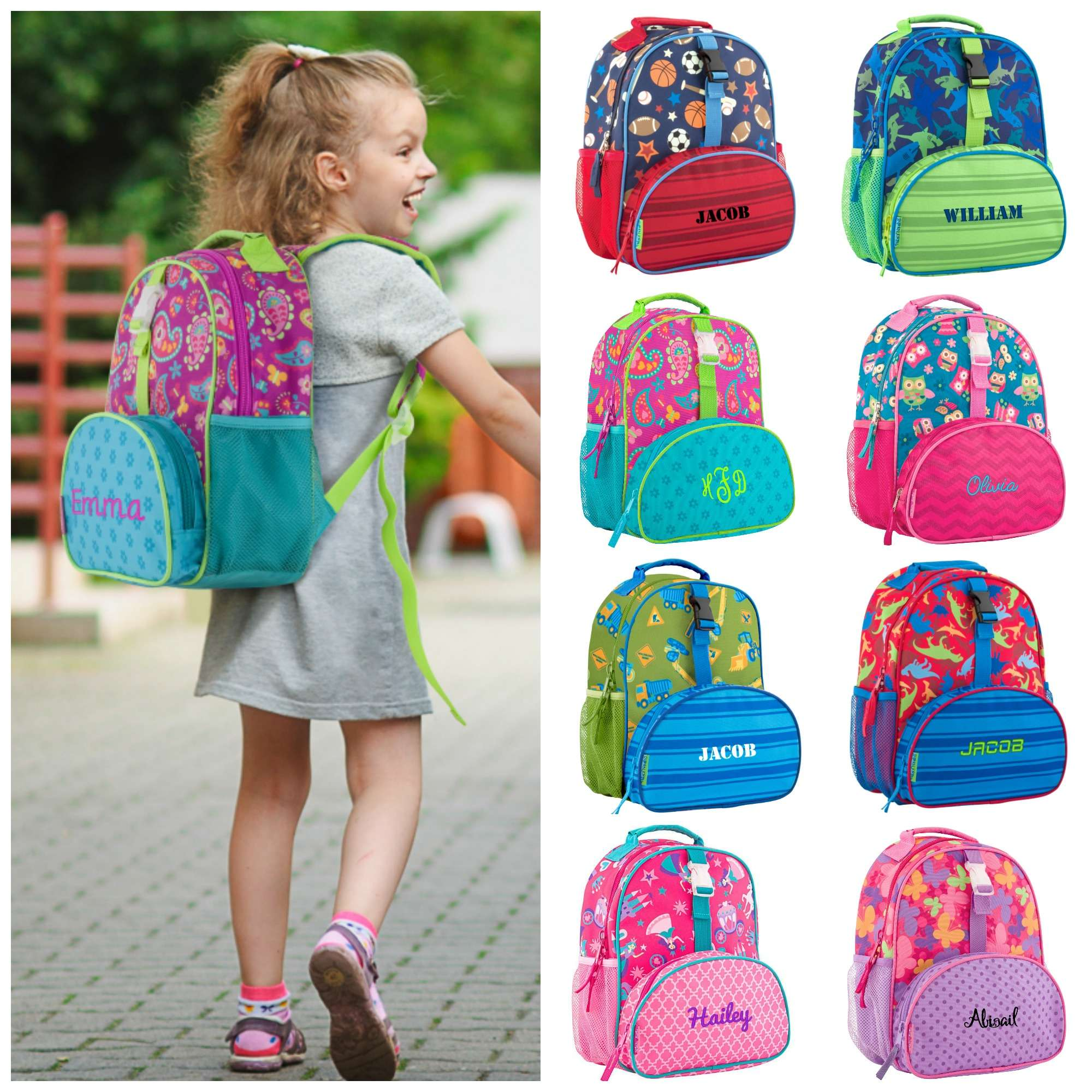 Personalized Preschool Backpack - Stephen Joseph - All Over Print ... 71fb97e238866