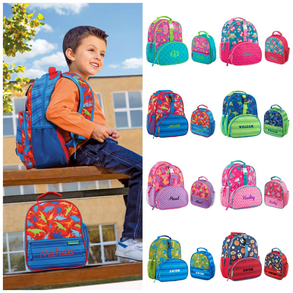 Personalized Kids Matching Preschool Backpack & Lunchbox - Stephen Joseph - All Over Print