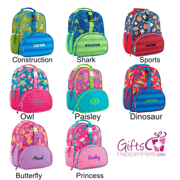 48eec9bf18b7 Personalized Preschool Backpack - Stephen Joseph - All Over Print