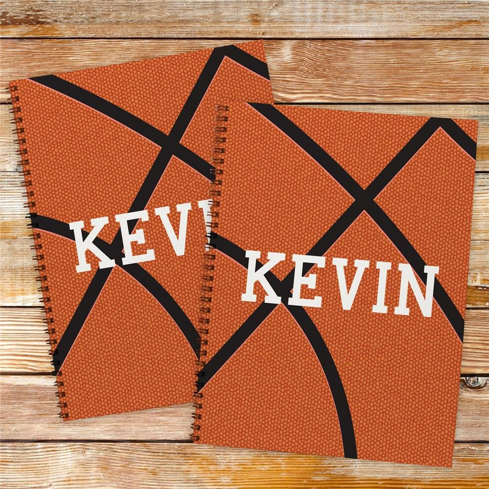 Personalized Basketball Notebook Set
