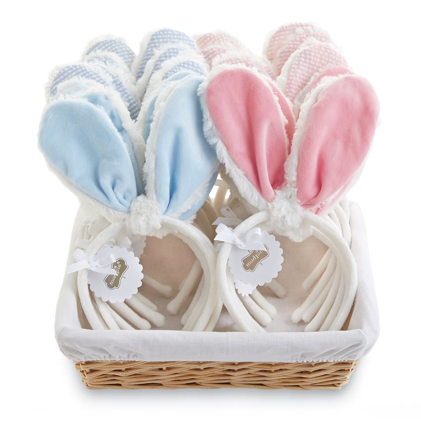 Plush Bunny Ears Headband by Mud Pie