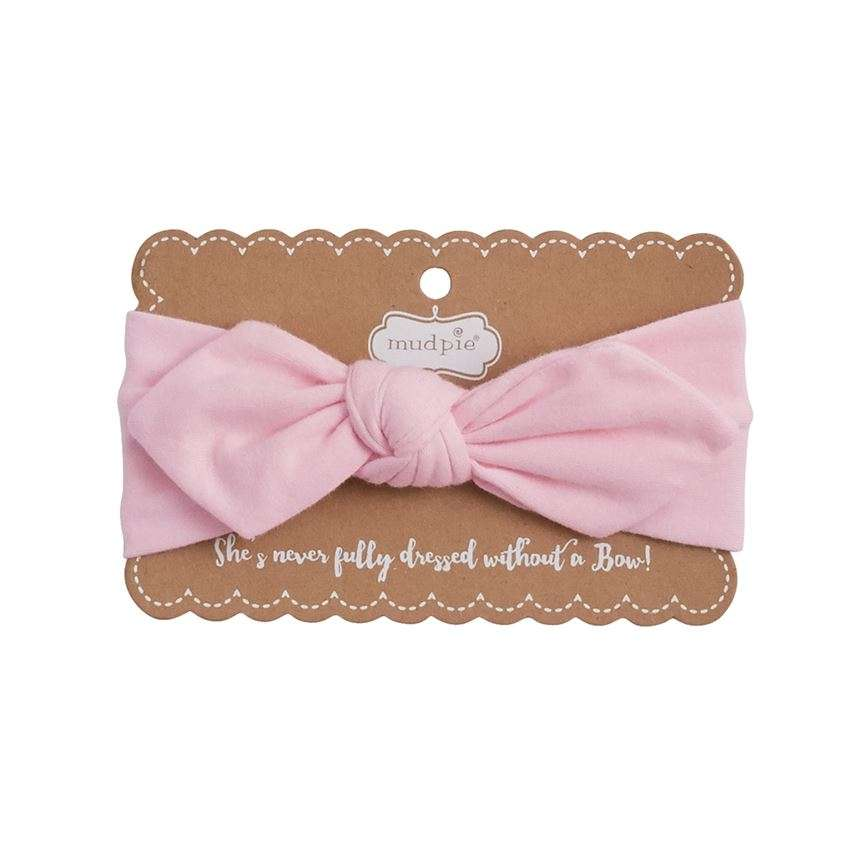 Knotted Bow - Headband - Hot Pink, Light Pink & Blue