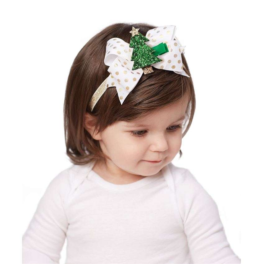 Holiday Glitter Clip Headband Set by Mud Pie - Heart, Pumpkin & Turkey