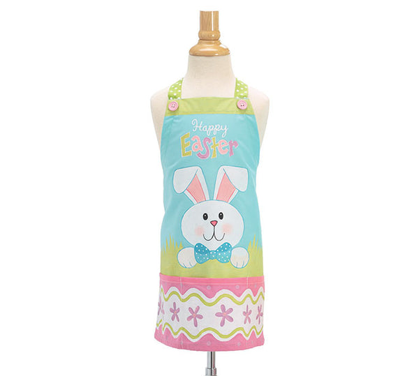 Kids Happy Easter Bunny Flower Apron
