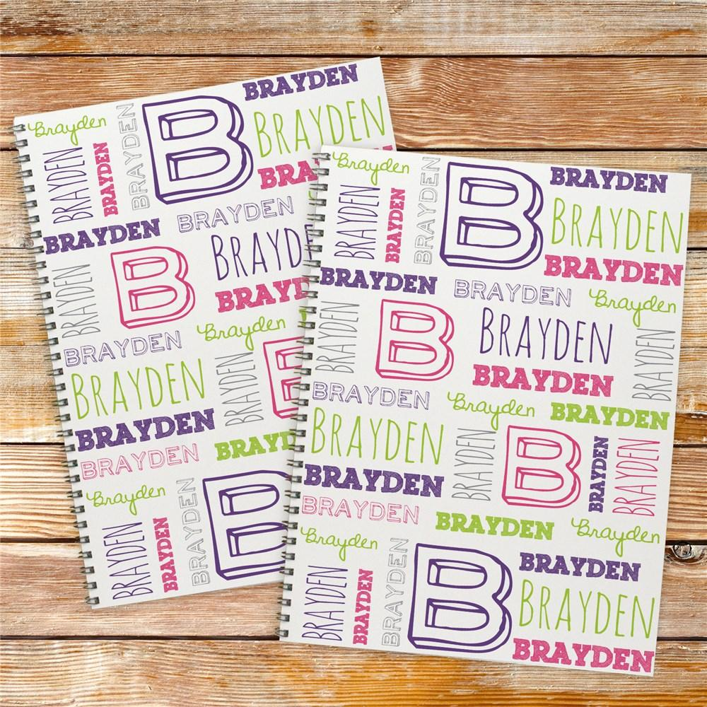 Personalized Kid's Name Notebook Set