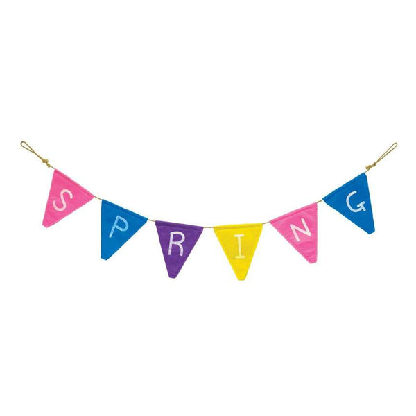 Spring Flag Banner - Hanging Easter Decoration