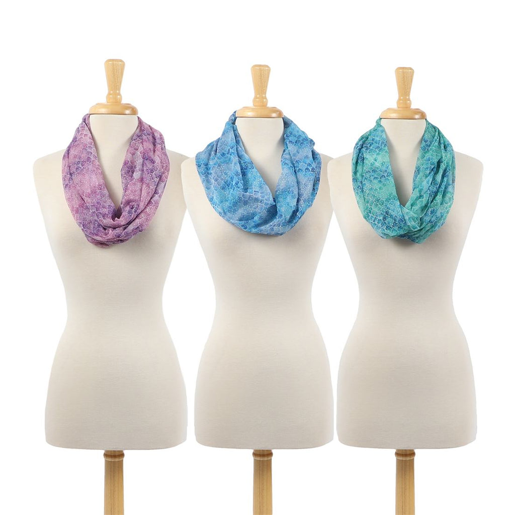 Mermaid Scale Infinity Scarf - Ombre Pattern