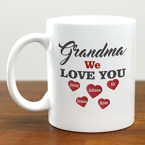 Personalized We Love You Mug