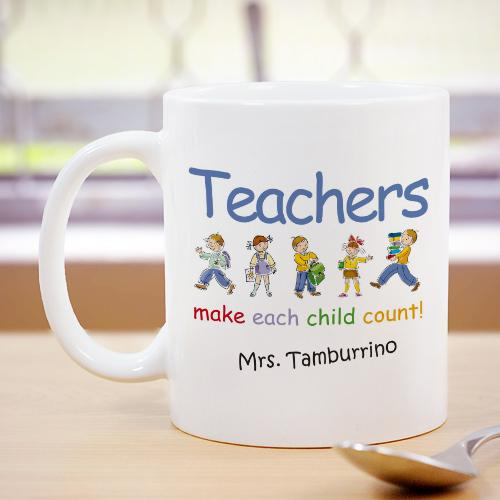 Personalized Make Each Child Count Teacher Coffee Mug