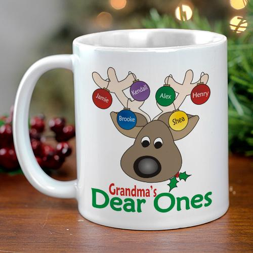 Personalized Dear Ones Christmas Coffee Mug