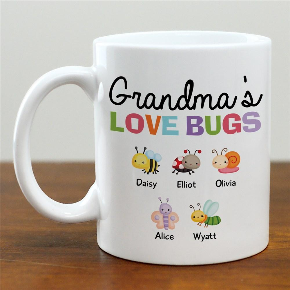 Personalized Grandma's Love Bugs Mug