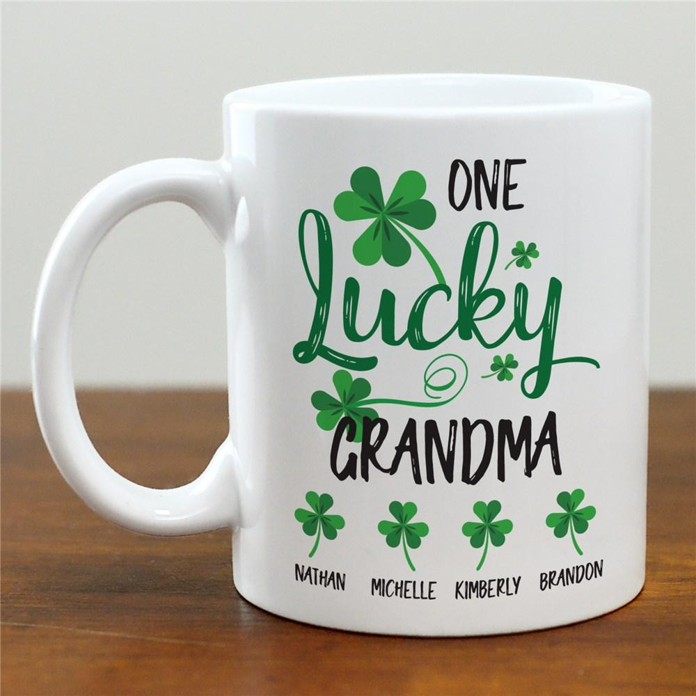 Personalized One Lucky Grandma Mug