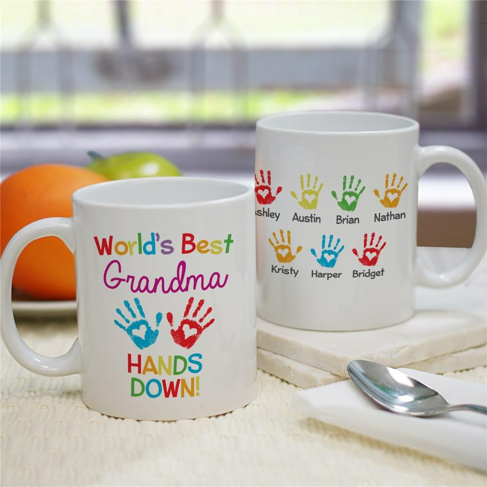 Personalized World's Best Hands Down Coffee Mug
