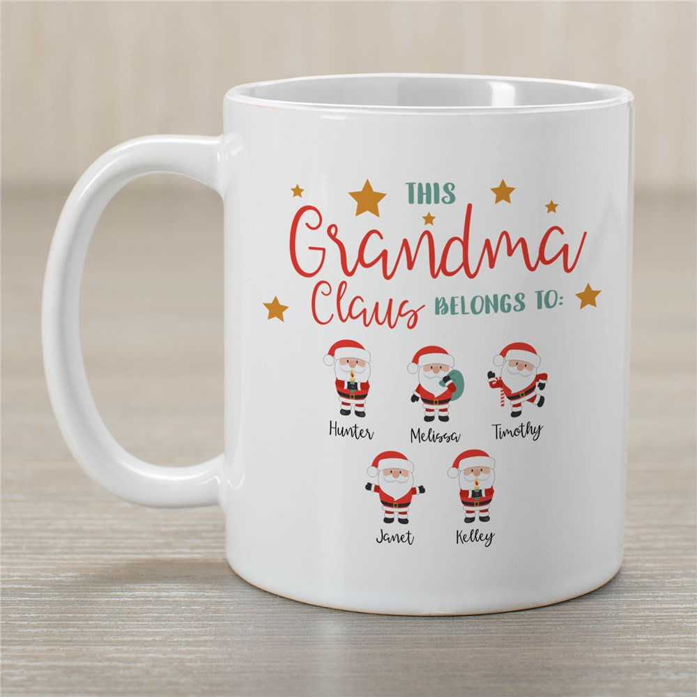 Personalized This Grandma Claus Belongs To Coffee Mug