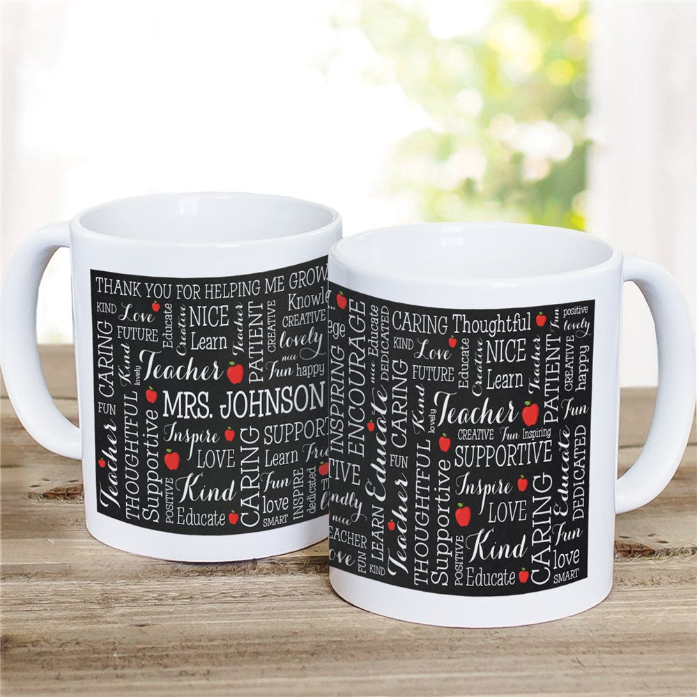 Personalized Teacher Word Art Mug
