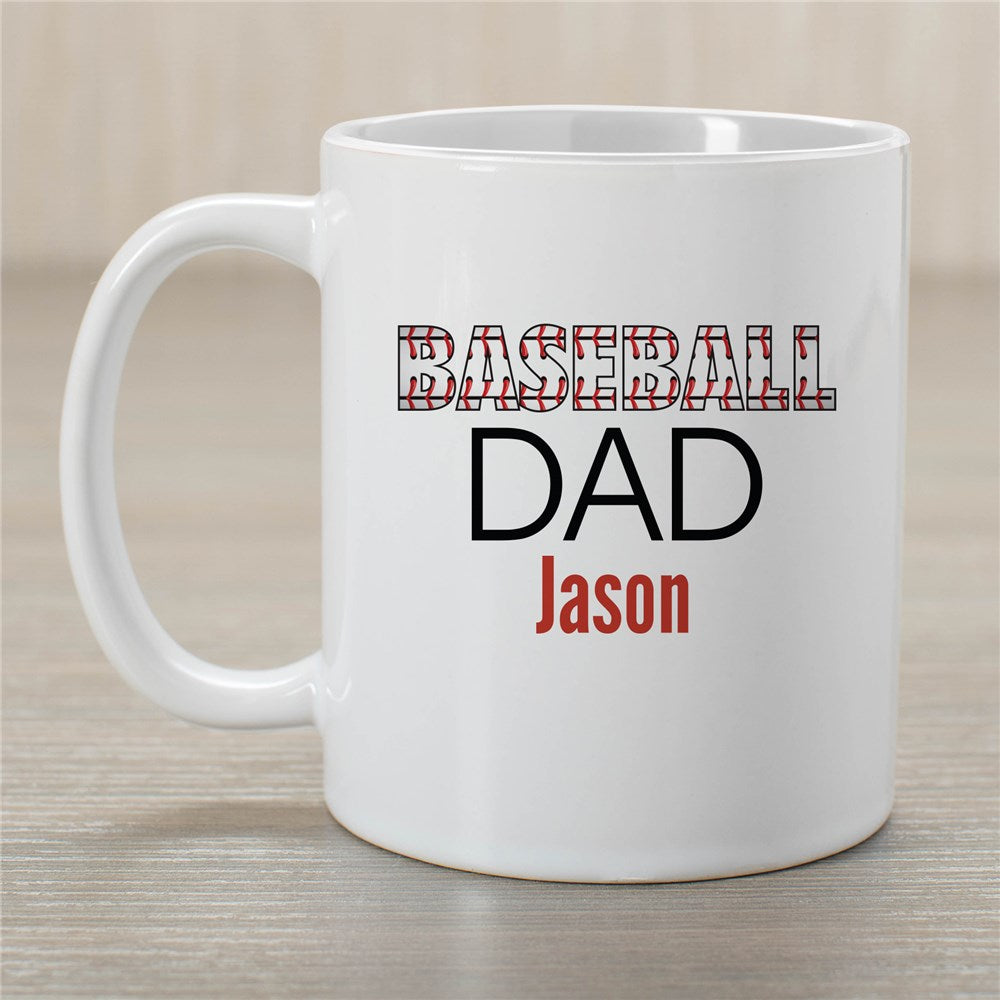 Personalized Baseball Dad Mug