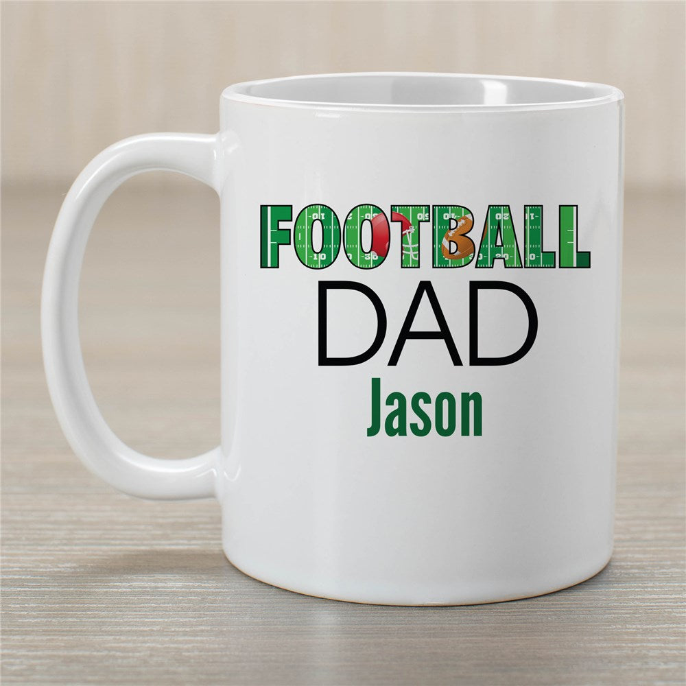 Personalized Football Dad Mug