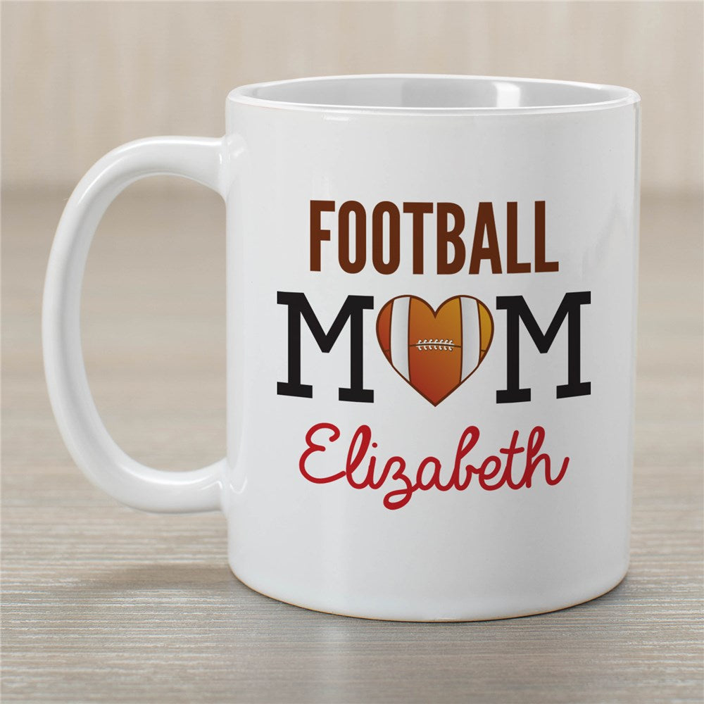 Personalized Football Mom Coffee Mug
