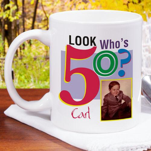 Personalized Look Who's ? Birthday Photo Coffee Mug