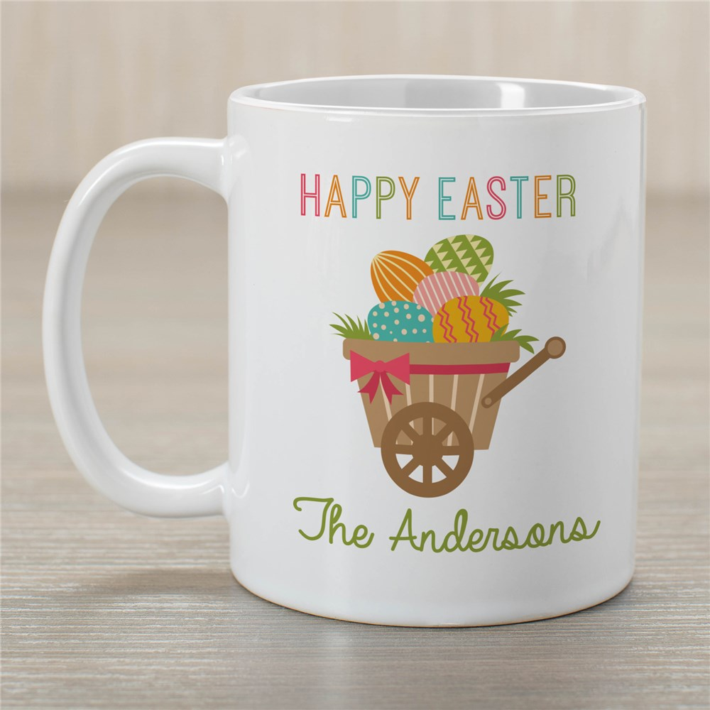 Personalized Happy Easter Wheelbarrow Mug