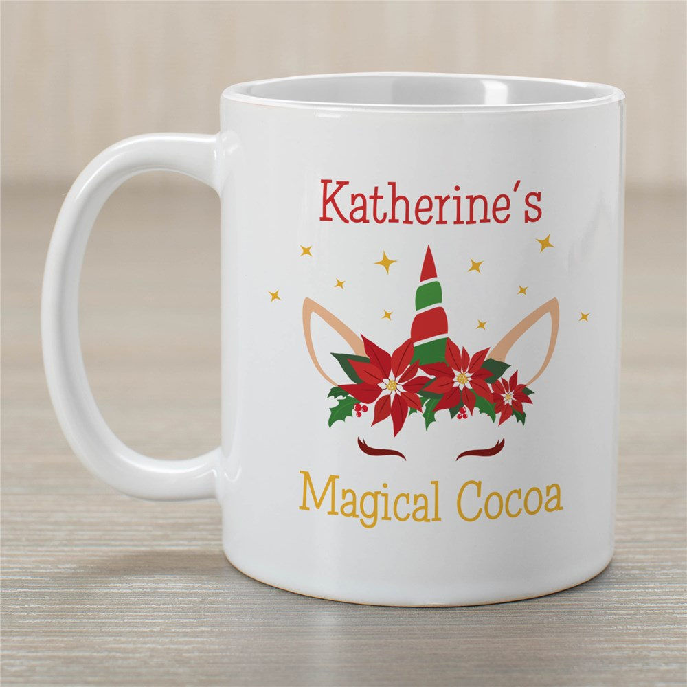 Personalized Yellow Unicorn Magical Cocoa Mug