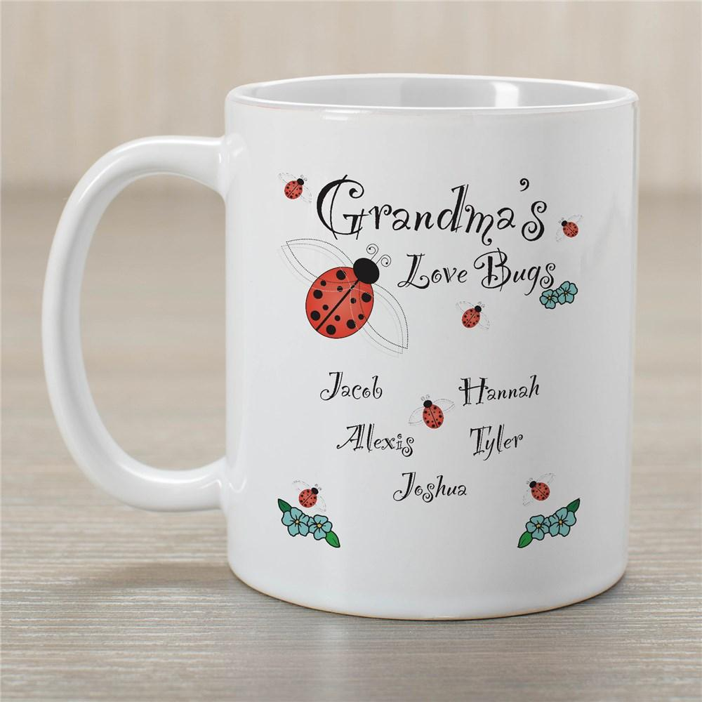 Personalized Grandma's Love Bugs Coffee Mug