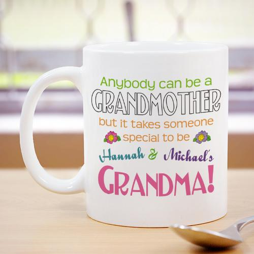 Personalized Anybody Can Be A Grandmother Coffee Mug