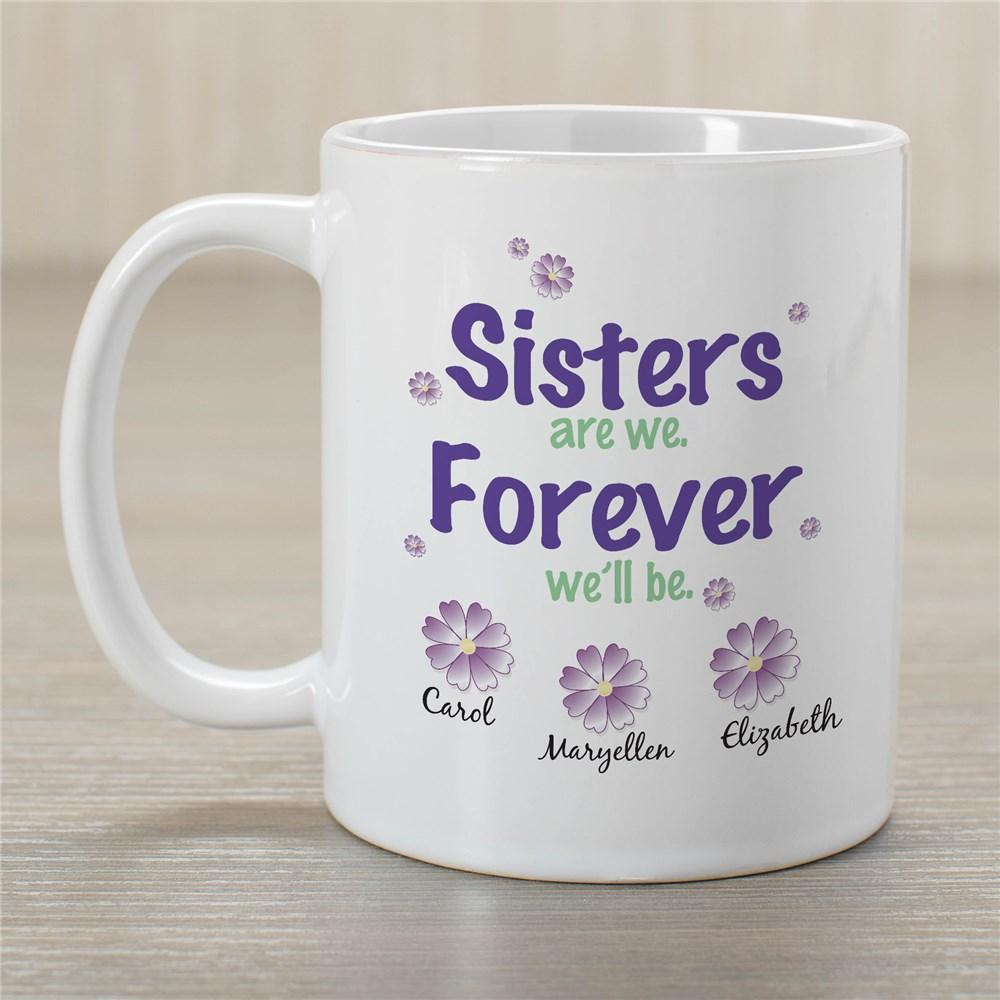 Personalized Sisters Forever Coffee Mug