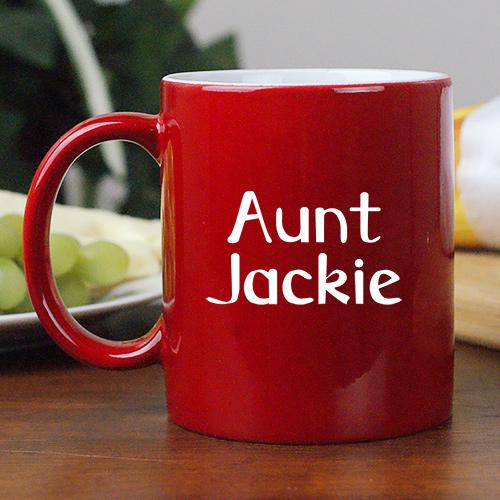 Personalized You Are Loved Two-Sided Aunt Two-Toned Coffee Mug