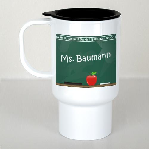 Personalized Chalkboard Teacher Travel Mug