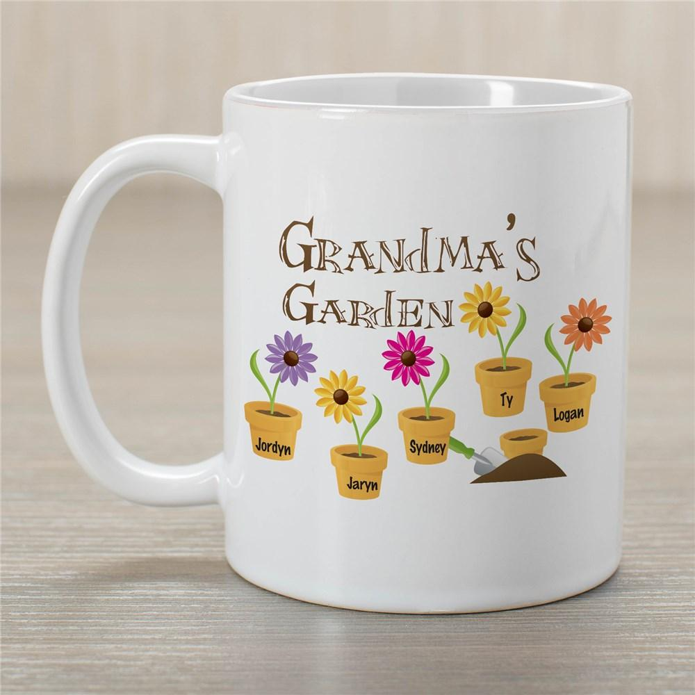 Personalized Flower Coffee Mug For Grandma