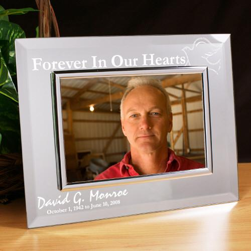 Personalized Forever In Our Hearts Memorial Mirror Picture Frame