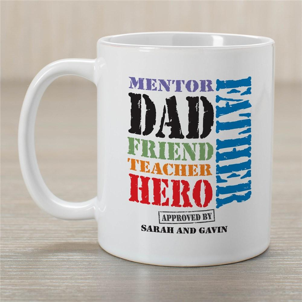 Personalized Dad Is Many Things Mug