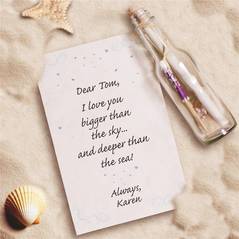 Personalized I Love You Message In A Bottle