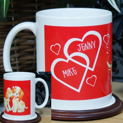 Personalized Puppy Love Coffee Mug - Valentine's Day Gift