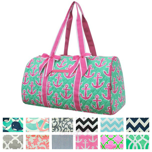 Quilted Duffle Bag Large Weekender