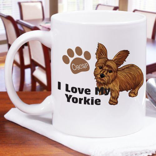 Personalized I Love My Yorkie Mug