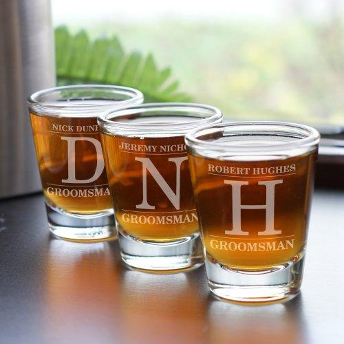 Personalized Engraved Groomsmen Shot Glass