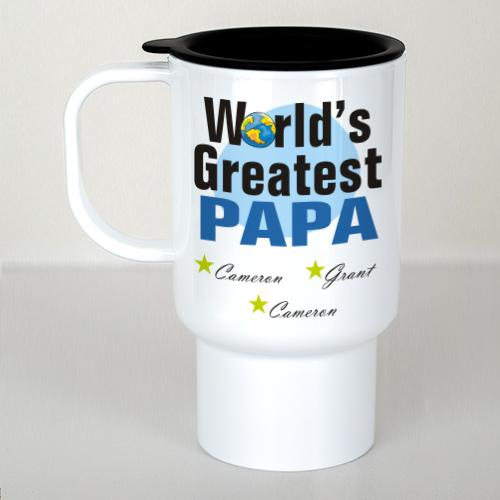 Personalized World's Greatest Travel Mug