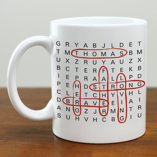 Personalized Word Search Coffee Mug