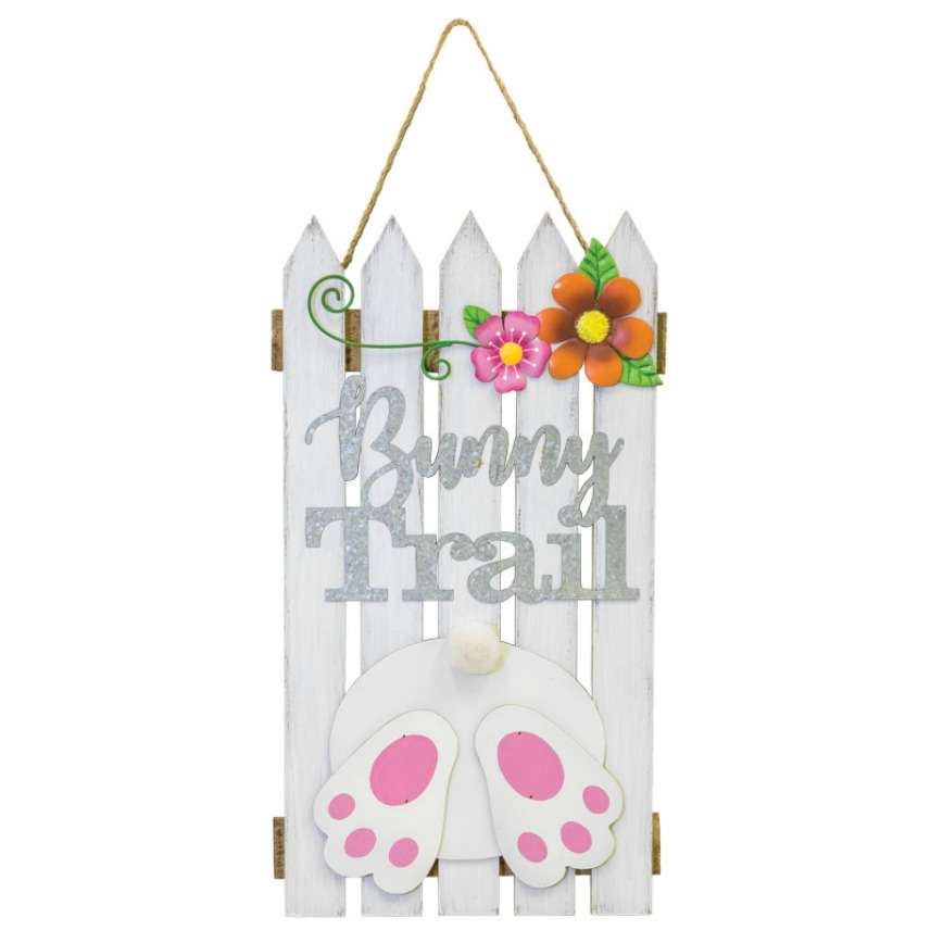 Bunny Trail Fence - Hanging Easter Decoration
