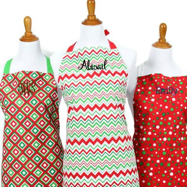 Personalized Christmas Aprons