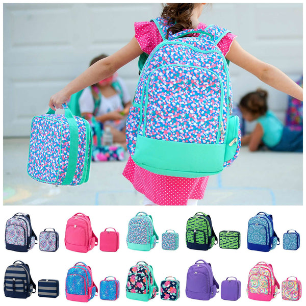 Matching Kids Backpack & Lunchbox Set