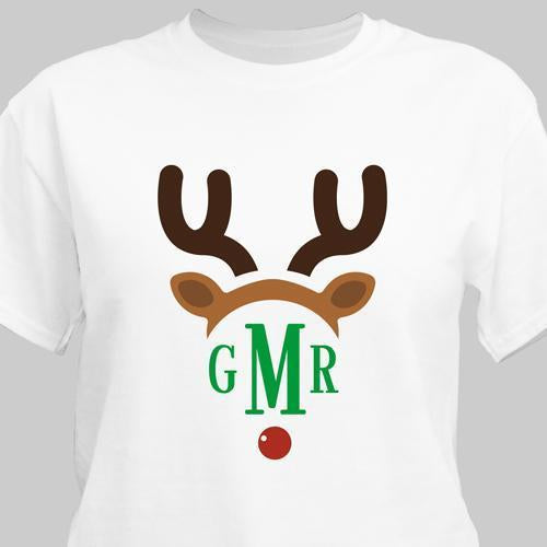 Personalized Family Monogram Christmas T-Shirt