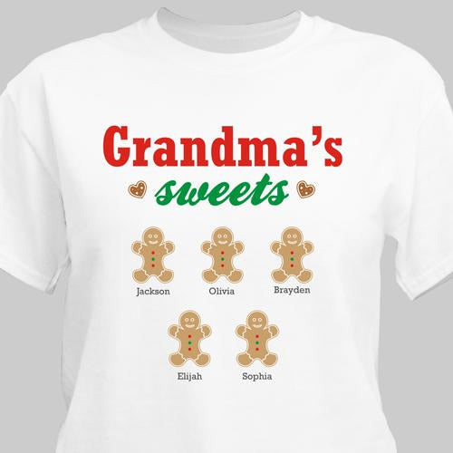Personalized Grandma's Sweets T-Shirt