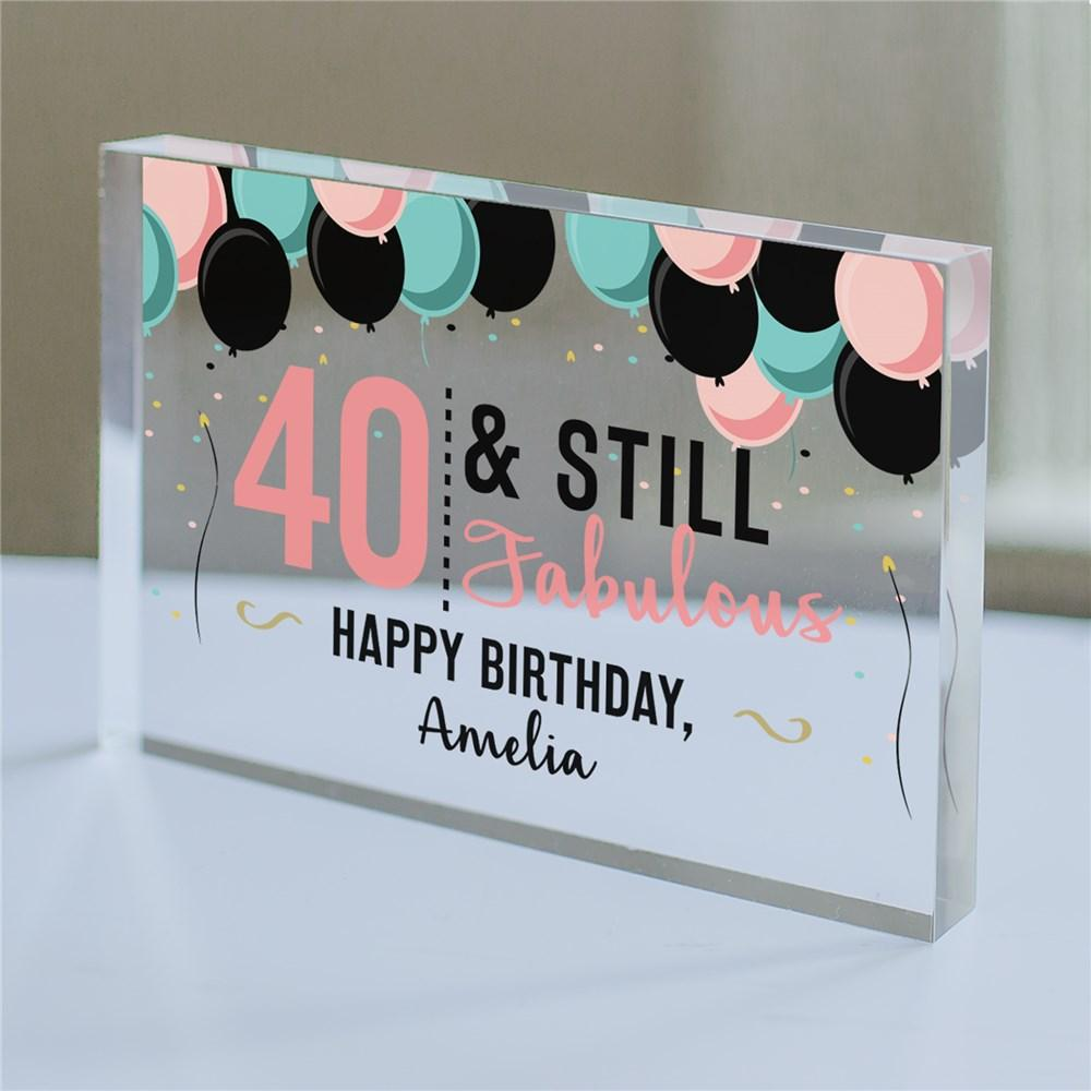 Personalized Sassy Birthday Acrylic Keepsake