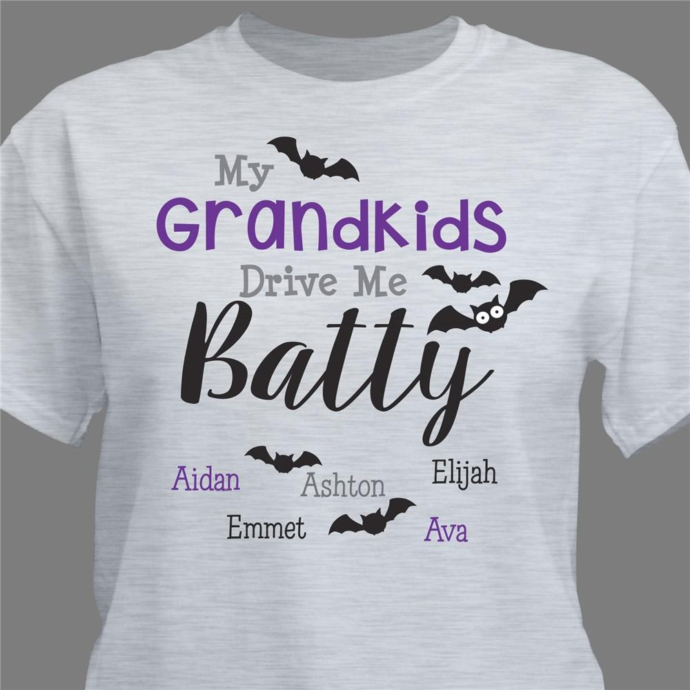 Personalized My Grandkids Drive Me Batty T-Shirt