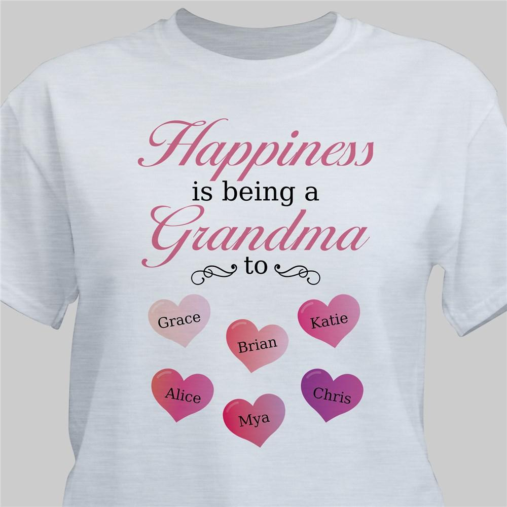Personalized Happiness Is Being A Grandma To T-Shirt