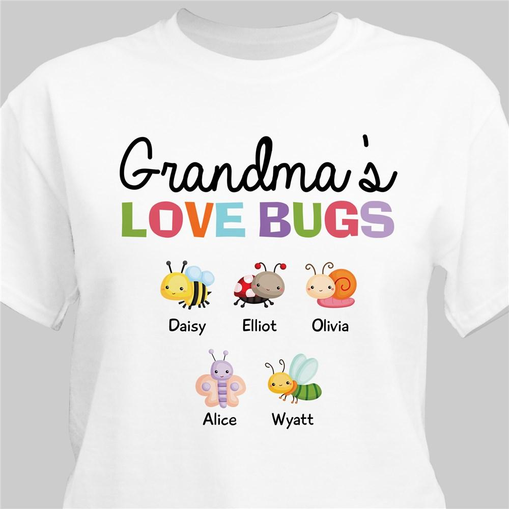 Personalized Grandma's Love Bugs T-Shirt